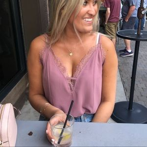 Mauve Lace Cami